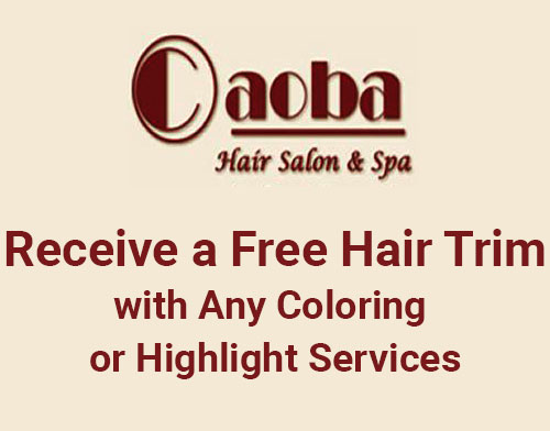 Receive a Free Hair Trim with Any Coloring or Highlight Services